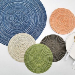 Table Napkin Nordic Cotton Mat Round Western Handmade Anti Slip Scald Heat Insulation Cup Bowl