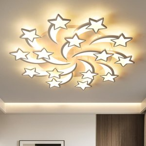 Modern Chandelier For The Kitchen Living Room Bedroom White Star Fashion Ceiling Lamp Surface Mounted Lighting Fixture Chandeliers