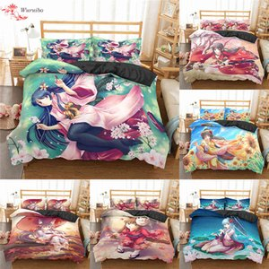 Japanese Anime Bedding Set Cartoon Girl Soft Duvet Cover Queen King Size Four Seasons Winter Comforter Sets Bed Covers