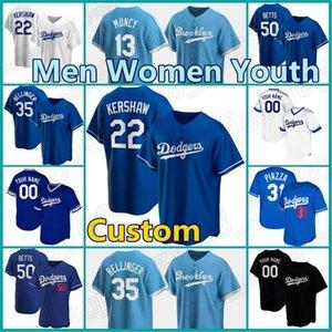 50 Mookie Betts Jersers personalizzato 5 Corey Seager Dodgers Baseball 7 Julio Urias Cody Bellinger Max Muncy Justin Turner Kershaw Joe Kelly