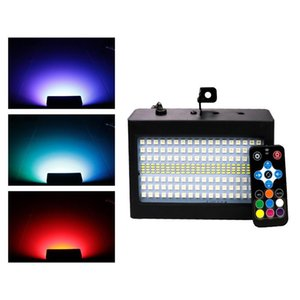204 LEDs 40W RGBW Disco DJ LED Strobe Effects Stage Lights Sound Active Household Party Holiday Music Club Show Flash Stages Lighting With Remote Controller