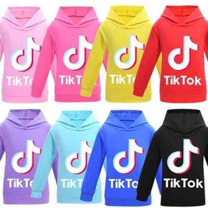 2021 Spring TikTok Letters Printed Kids Hoodies T-shirt Casual Fashion Boys Girls Hooded Sweater Tops Clothes Sweatershirt G34KHEM