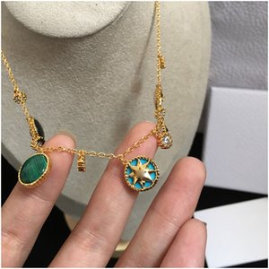 2020new Jewelry Women Necklaces Rose Gold Thick Chains Necklaces with CD Stainless Steel Bracelet and Necklace Suit Fashion Link