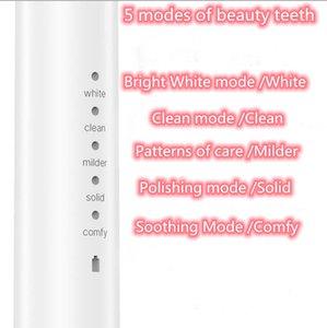 Poderosa escova de dentes elétrica de dentes elétrica ultra-sônica USB escovas recarregáveis escovas de dentes eletrônicos laváveis escova de dentes