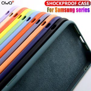Liquid Silicone Case For Samsung Galaxy A51 A71 A50 A70 A10 A20 S20 Plus fe Note 20 Ultra 8 9 10 S8 S9 S10 Plus Shockproof Cover