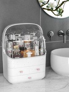 Cas de cosmétique imperméable Maquillage Transparent Boîte à bijoux Multifonctionnel Travel Organisateur Tiroir Accueil Boîtes de rangement Boîtes Sacs