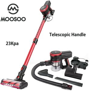 MOOSOO K17U 23Kpa Cordless Stick Vacuum Cleaner Strong Suction 200W Brushless Moter with Telescopic Tube for Pet Hair Carpet Cars