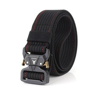 Nylon Belt Army Tactical Belt Men Metal Pluggable Buckle Military Combat Belts Knock Off Emergency Survival Waist Tactical Gear 210324