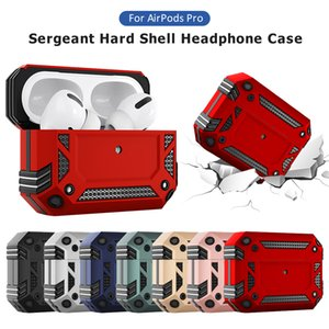 Anti Knock Military Armor Hard Protective Case For Airpods Pro 3 Wireless Earphone Cover 7 Colors in stock
