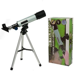 F36050M Astronomical Telescope With Portable Tripod Monocular Zoom Telescope Spotting Scope for Watching Moon Stars Bird 210319