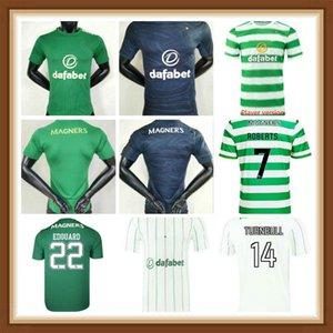 Versão do Jogador Celtic 2021 2022 Jerseys de futebol Home Verde 17 Christie 20 21 Lay # 19 Johnston # 9 Griffiths Terceiros Personalizados Homens Kit Kit Futebol Uniformes