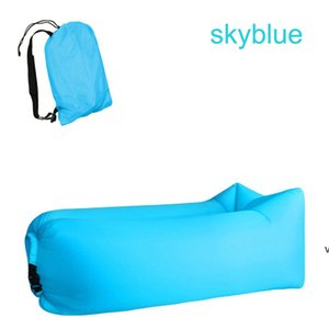 210D Thicken Inflatable Sofa Lazy Bag Better Quality Outdoor Adults Sleeping Bag Bed Folding Rapid Air Sofa for Beach, Camping, HWD7164