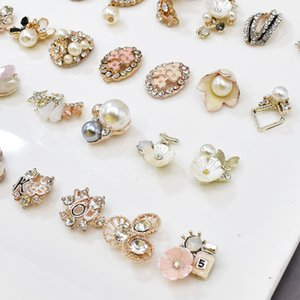 Exquisite micro diamond jewelry accessories geometric modeling alloy DIY hand hair Brooch material bow