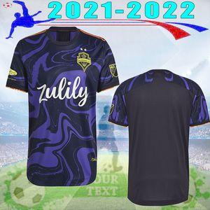 2021 2022 Seattle Sounders FC Soccer Jerseys 21 22 Ruidiaz Morris Dempsey Torres Chemise en Jersey Violet Football Purple