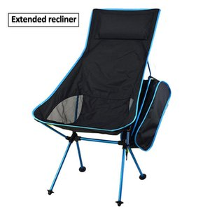 Portable Camping Beach Chair Lightweight Folding Fishing Outdoor Ultra Light Orange Red Dark Blue Chairs Accessories