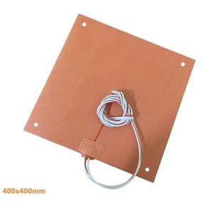 Carpets USA Material! CR10 S4 Silicone Heater Pad 400x400mm For CR-10 3D Printer Bed W Screw Holes, Adhesive Backing + NTC100K