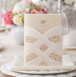 2021 Элегантная белая лента золотые блестящие точки свадебные приглашения карты, по желанию,
