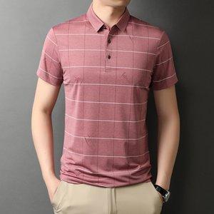 Pure Cotonshort Nouveau 2021 Manches Hengyuanxiang Summer Polo Shirt Stripe T-shirt Homme Half's Manches