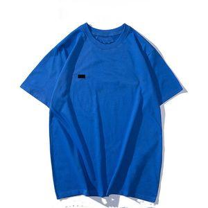 Designer mens camiseta verão manga curta moda formal streetwear marca 15 cor algodão meio sólido redondo round hop roupas