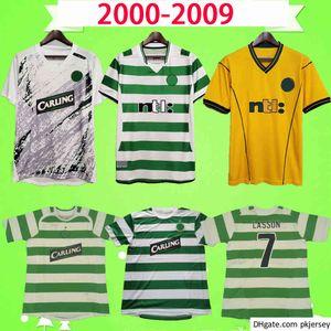 Celtic Ретро Футбол Джерси 2001 2002 2003 2005 2006 2007 2008 2008 Старинные футбольные рубашки Униформа 02 03 05 06 Lasson Keane Petrov Balde Sutton