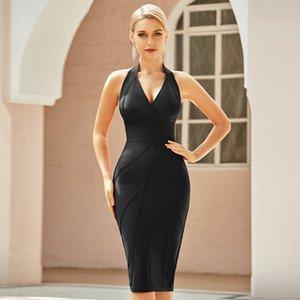 2021 Stitching Solid Black Short Medium Length Skirt Mid Waist Bandage