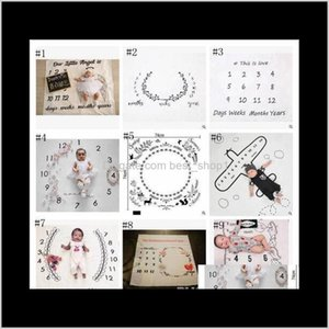 Baby Po Toddle Milestone Pography Backdrops Prop Letter Flower Print Blanket Born Wrap 30 Styles Luzz7 Mfsho