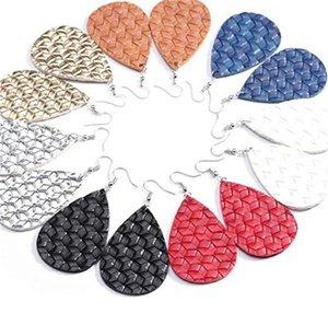 Good quality faux leather earrings fashion women statement dangle drop Earrings for women banquet earrings jewelry 91 T2