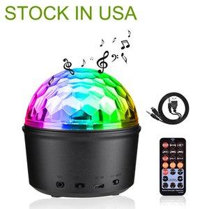 US Stock Bluetooth + Speaker Party Light Light Effects 9W Magic Ball Projector DJ Stage Lights Strobe Club Lighting Mini con connessione remota per la decorazione