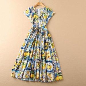 Party Dresses SA09762 High Quality Fashion Women 2021 Spring Dress Luxury European Design Style