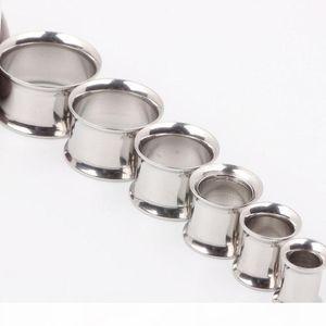 Ear Plug Piercing F12 Mix 4-16mm 50 unids Lote Acero inoxidable Doble Flare Ear Enchufe Piercing Body Jewelry