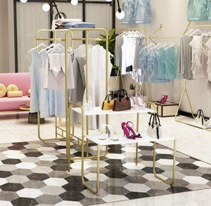 Clothing store display rack Commercial Furniture floor type children's cloth racks bag shoes high and low table cosmetics cabinet water tables