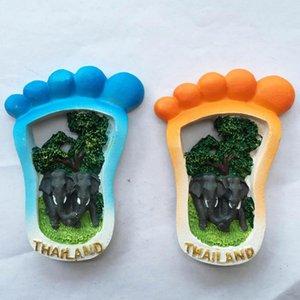 Fridge Magnets Thailand Creative Travel Souvenir Gift Handmade Painted Decorative Crafts Magnetic Refrigerator Magnet