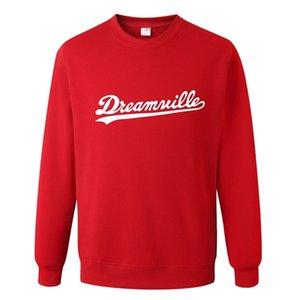 J. Cole Dreamville Imprimé Pull-oduré Mens Homme Pull Dos Casual Homme Femme Hip Hop Designer Sweatshirts T-shirts à manches longues