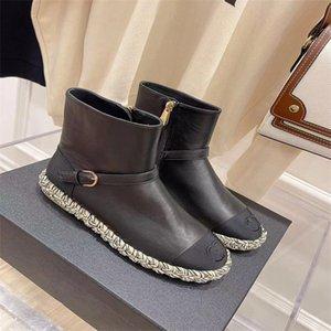 2021 Последние женские дизайнерские сапоги Мартин пустыня Boo TS S Flamingo Love Arrow Medal 100% натуральная кожа толстая зимняя обувь высокий размер каблука 35-42 плюс кадр E005