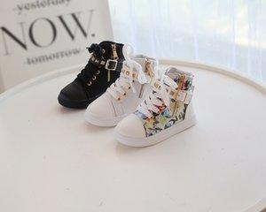 2021 Fashion Classic Sneaker Sapatos infantis com alto zíper de metal Kid Youth Shoe Skate Tamanho Euro27-35
