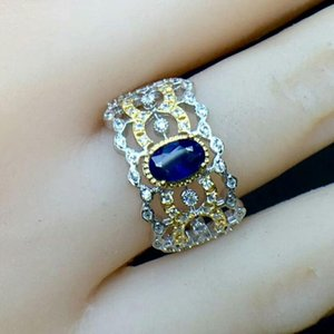 Cluster Rings MeiBaPJ Natural Sri Lanka Sapphire Gemstone Luxurious Ring For Women Real 925 Sterling Silver Fine Wedding Jewelry