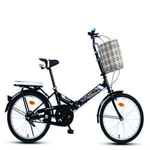 16 20 Inch High Carbon Steel Folding Bicycle Lightweight And Small Variable Speed Bike Rear Luggage Rack Double-Layer Aluminum Ring Large Pattern Tires