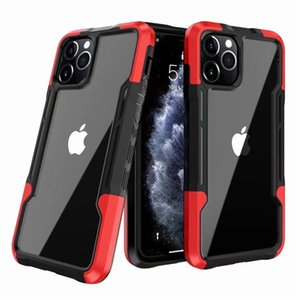 Armor Heavy Duty Transparent Clear Phone Cases For Iphone 11 Pro Max 12 Mini 6 7 8 Plus XR X XS TPU PC Acrylic Crystal Back Cover
