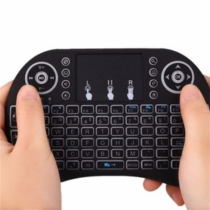 Mini Rii i8 Wireless Keyboard 2.4G Air Mouse Remote Control Touchpad Backlight Backlit for Smart Android TV Box Tablet Pc English with Retail Packing