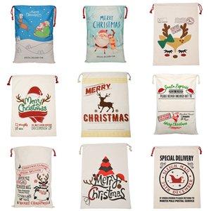Christmas Gift Bags Canvas Cotton bag 39 Styles Santa Sack Drawstring Bag ZZA3426 Send By Sea