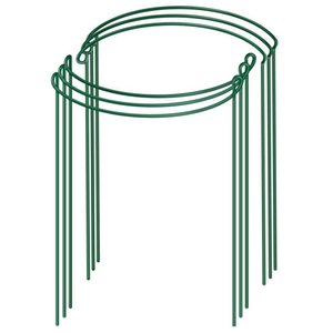 Other Garden Supplies 6Pcs Plant Support Rod, Metal Frame, Ring, Tomato Aquatic Green Supp