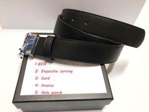 Top 2.0-3.0-3.4-3.8cm Cinturón de diseñador para mujer para hombre de alta calidad Hebillas de oro grande Moda de negocios Cinturones de novia de cuero de la moda con caja Unisex Diseñadores Mujeres Hombres
