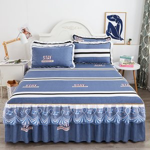 Bed Skirt Ins Princess Lace Sheet King Que ding Set Floral Summer spread Ruffle Textile with 2pcs Pillowcases J8029 5IIR