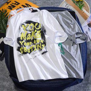 2021 benmingnian brand letter hip hop short sleeve graffiti fashion spring and summer lovers T-shirt