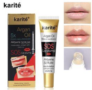 Karite Lip Gloss Instant Volumising Plumper Collagen Plumping Moisturizer Lipgloss Extreme Volume Essence Lips Serum Argan Oil