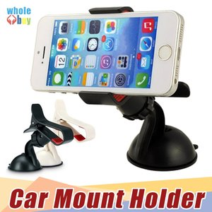 Retail Packaging + Universal Car Phone Holder Windshield Dashboard Mount Stand Smart Mobile Phone GPS MP4 Rotating 360 Degree