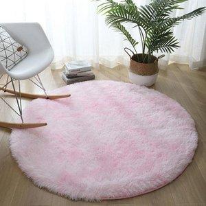 Carpets Nordic Carpet Plush Soft Round Rug Fluffy Skin-friendly Living Room Floor Mat Bedroom Bedside Comfort Home Decor Rugs