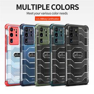 Múltiples colores Militares a prueba de golpes a prueba de golpes para Samsung Galaxy S21 Ultra S20 S20PLUS S20FE S21PLUS NOTA20 PRO ARMOR PROTECTOR DE PROTECTOR