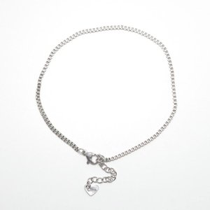 Anklets Women Chain Anklet 304 Stainless Steel Silver Color 22.8cm(9