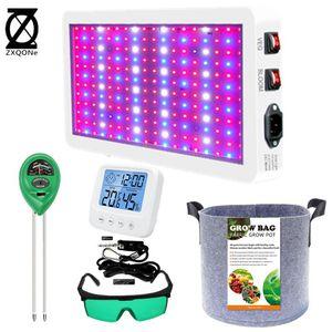 / 3000W LED Grow Kit de caixa de luz com óculos ph medidor termômetro gancho para luzes de plantas de barraca interna